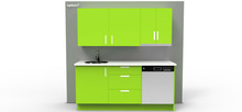 European hardware with compact storage room kitchen cabinet
