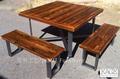 Outdoor antigo industrial/estilo moderno de madeira reciclada mesa de piquenique, a mesa de pinho velho