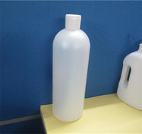 PE Cosmo Round Plastic Bottles With White Disc Top Closure /Packaging Supplies / Bath And Body Supplies