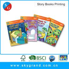 Cheap customized design hardcover children story cardboard book