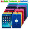 Heavy duty Shockproof Starry Bling Diamond Robot 3 in 1 Hybrid PC+Silicone Case Cover for ipad mini 2