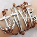 Cordón de algodón de moda pulsera de la amistad, Alta calidad venta al por mayor de la pulsera ( DBR0105 )