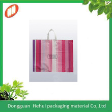 promotional colored printed plastic retail shopping bags