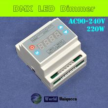 3channel AC90-240V, 110V=3 x 110W, 220V=3 x 220W DMX Triac Dimmer, High Voltage DMX LED Dimmer