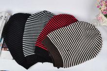 C82357A stripe hip-hop cap headgear knit cat