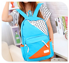 Cheap wholesale canvas rucksack school bag back pack bags