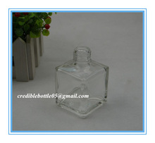 80ml square transparent glass perfume bottle with screw cap