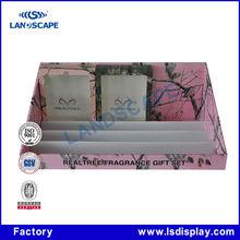 Customizable cardboard countertop mask display case for shop