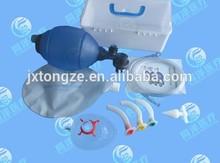 PVC Manual Resuscitator kit including mask Oxygen Reservoir bag sterile airway