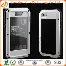 Metal Aluminum Shockproof Gorilla Glass custom waterproof cell phone case for iphone
