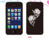 hot selling custom skull head skin for iphone 4/5