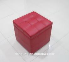 OTM-SC9193 hot leather pouf ottoman footstool