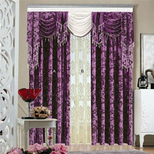 China luxury european style window curtains custom curtains made in china