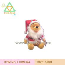 Huggable Soft Plush Winnie Santa Claus