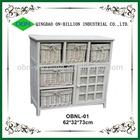 Hot sell handmade sliding modern bedroom furniture wicker basket drawers