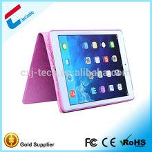 For iPad Mini 2 retina Business Solid Silk Grain Smart Cover Case pink