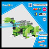 New led light building block dragon toys for kids wind up plastic toy
