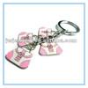Fashion Metal Enamel Alloy Metal Crystal Hadbag Promotional Key Ring