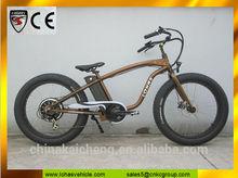made in 2014 fun Cruiser Blue gold ebike trekking bike long range road legally vehicle