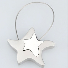 Fashion Magnet star shaped 2d keyrings key chain for giftFashion Magnet star shaped 2d keyrings key chain for gift