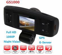 "HD1080P 1.5"" LCD Night Vision Car Dash Camera GPS HDMI G-sensor CE FCC Taxi Camera Video Recorder"