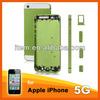 wholesale replacement products green back cover for iphone 5/5s