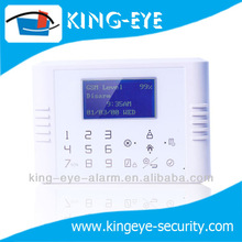 LCD English setup menu, wireless touch screen gsm home alarm securitys for promotion