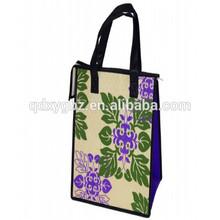popular recyclable pp woven zipper bag