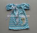 venta caliente congelados vestidos de campesinos con corbata de lazo de la princesa elas patrón de chevron vestidos vestidos para niños 2014 baby vestido de diseños