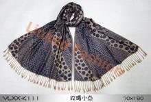 most popular rose and polka dot 100% rayon scarfs achecol bufanda infinito bufanda by Real Fashion