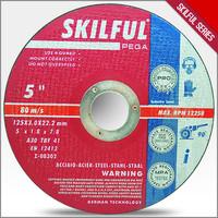 125x1x22mm SKILFUL brand super thin abrasive cutting disk in EN12413