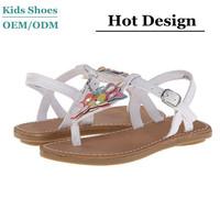 China Manufacturer 2014 New Design flat flower strap children topless sandals