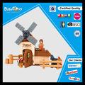 Funny farm conjunto de juguete con caballo bloques huecos