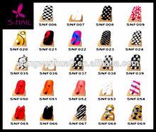 2014 HOT SALE 195 designs metallic nail sticker nail art