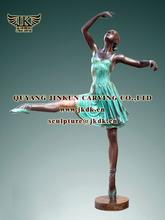 bronze dancing lady statues for garden decoration sculptures
