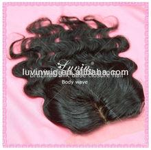 aaaaa 4x4 inch natural hairline brazilian top closure hair piece