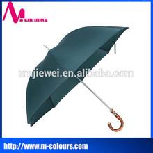 "27"" J handle golf umbrella wholesale oEM made in China curved handle golf umbrella"