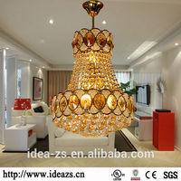 C98179 gold crystal chandelier ,vintage pendant light ,led crystal light frame