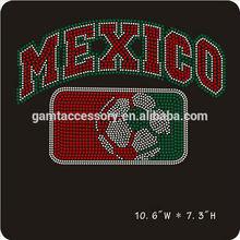 Custom Mexico Soccer Rhinestone Iron on transfer design