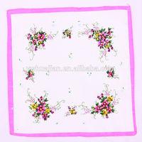 100% polyester fabric cheap wholesale handkerchief
