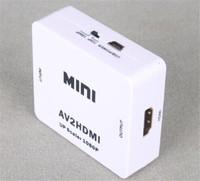 Wholesale - Mini AV to HDMI Converter RCA to HDMI AV to HDMI 1080P AV2HDMI Signal Converter for TV VHS VCR DVD Records