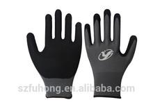 13G nylon nitrile coated gloves work