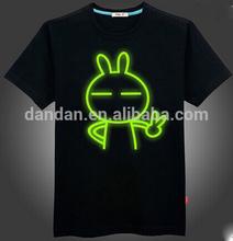 Wholesale custom led lighted up t shirts