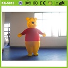 Factory cute moving high quality inflatable bear cartoon advertising