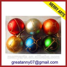 2014 futian yiwu market wholesale matte delicate printable christmas balls ornament