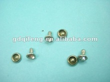 2012 qifeng Decoration iron decorative rivets with crystal