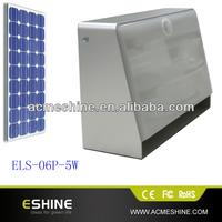 ELP-06P-5W China Low Price Ip65 Motion Sensor Solar Led Street Lighting for parking ,shop's window