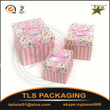 Different color High Quality Birthday Paper Gift Boxes