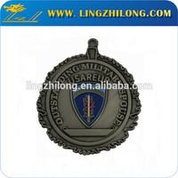 Antique nickel plastic medallion