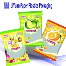 Printed zipper top plastic food packaging bags